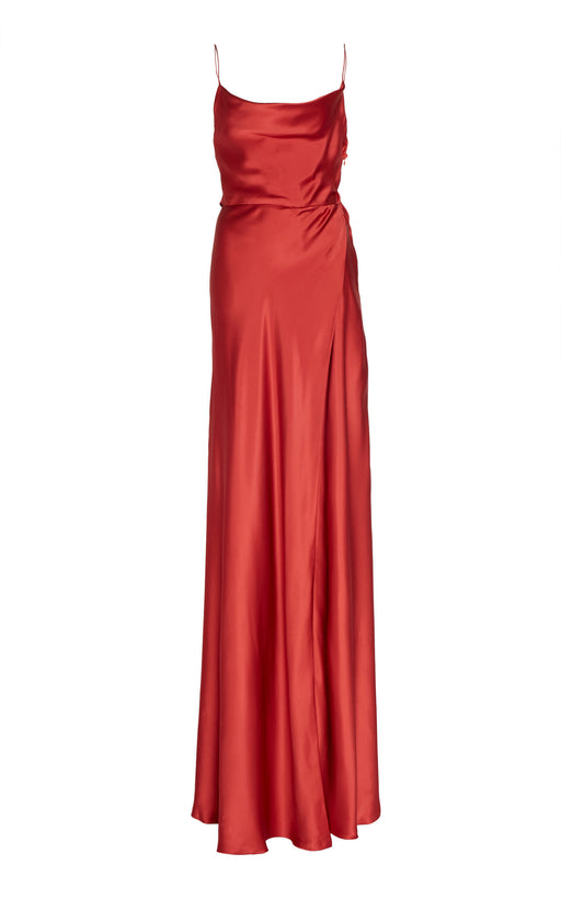 Garbo Red Silk Gown