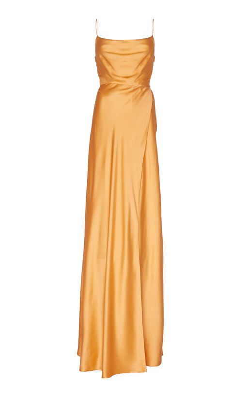 In Stock: Greta Orange Silk Gown