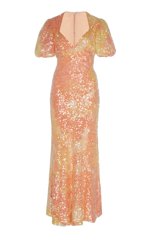 Harlow Sequin-Embellished Empire Dress