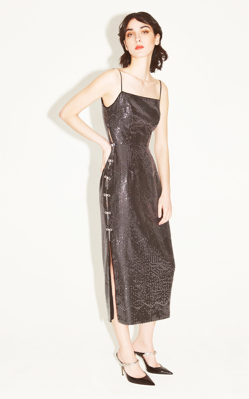 I Love the Nightlife Black Sequin Dress