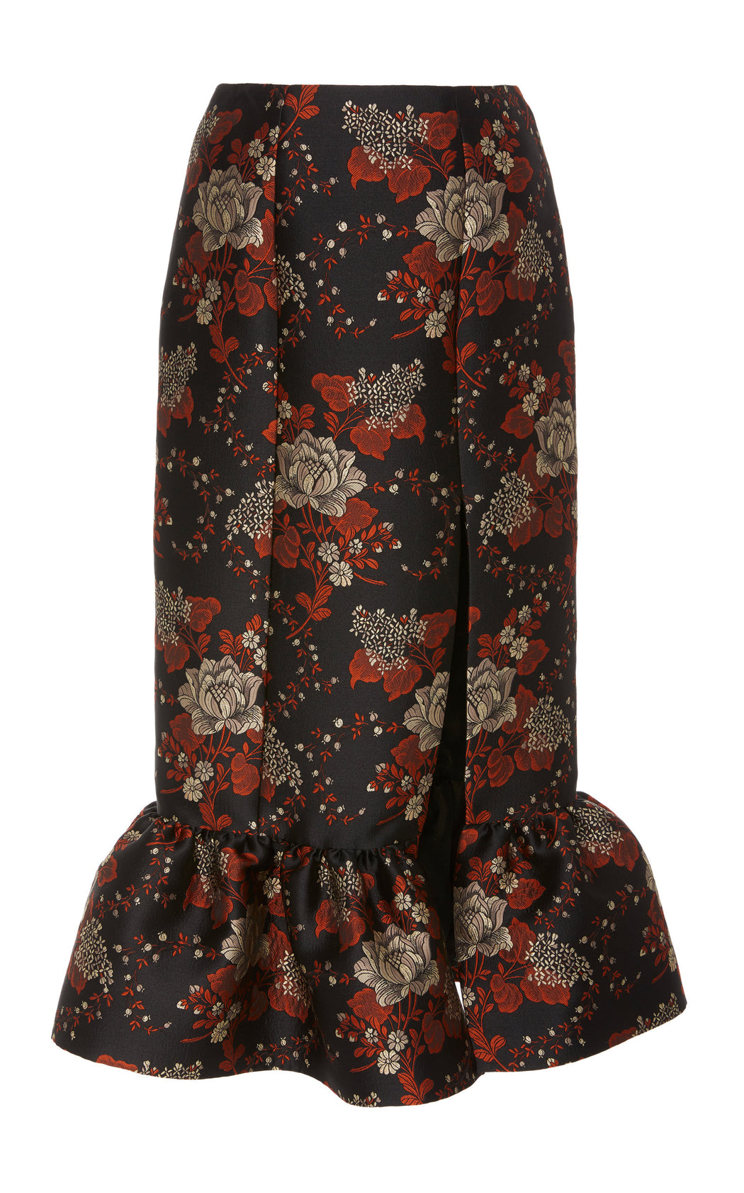 Let's Groove Floral Brocade Skirt
