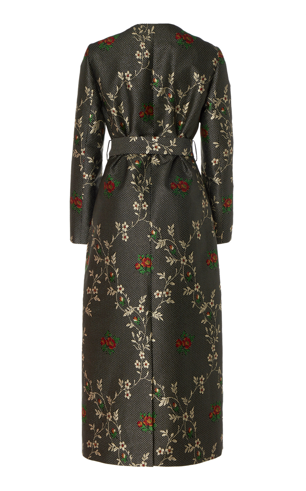 Loretta Belted Jacquard Midi Dress