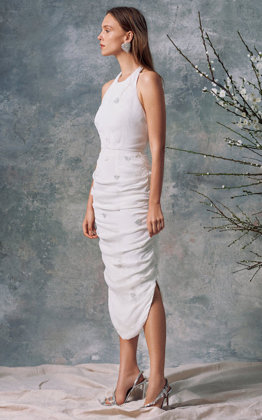 Lucina White Silk Dress