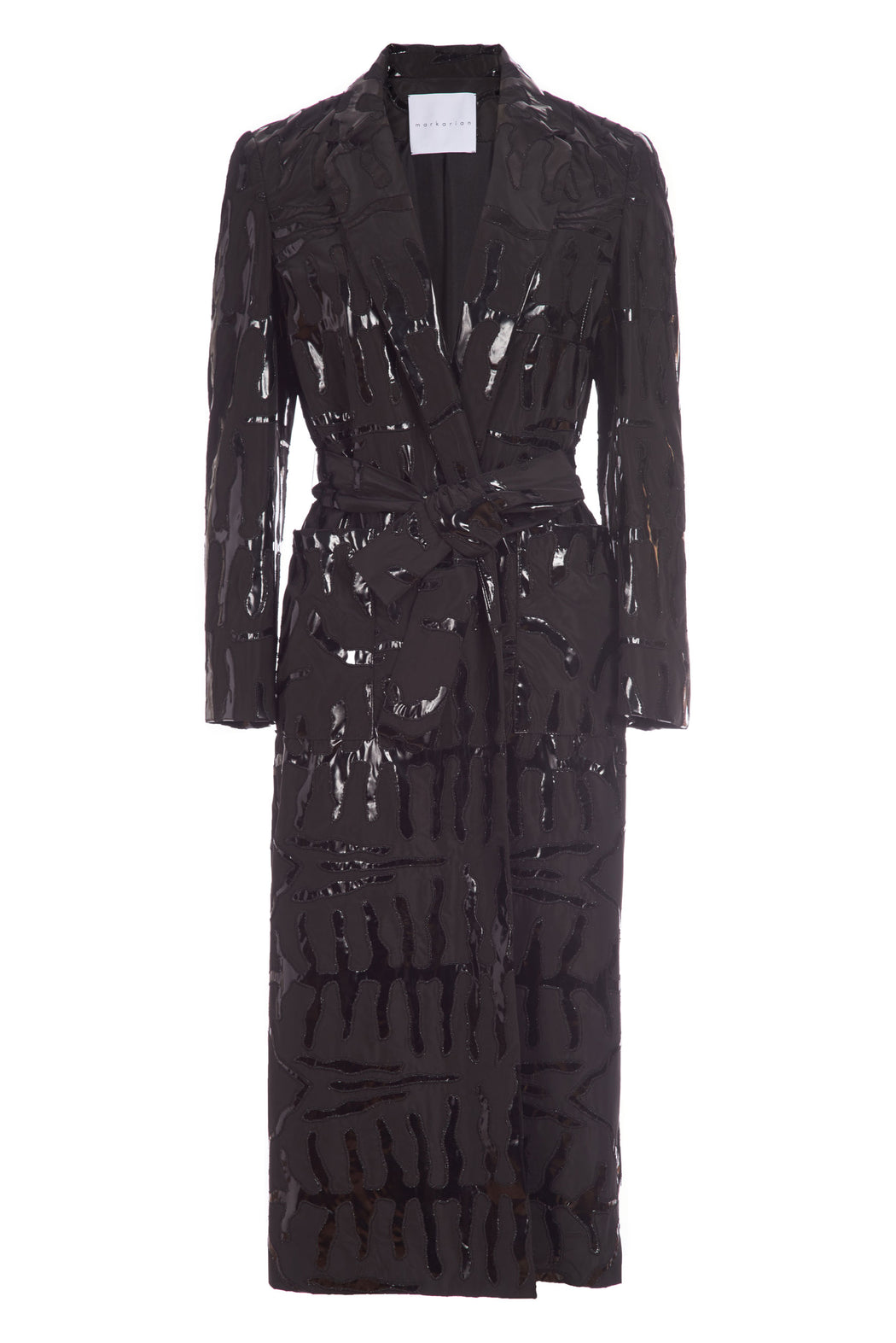 Sara Black Trench Coat
