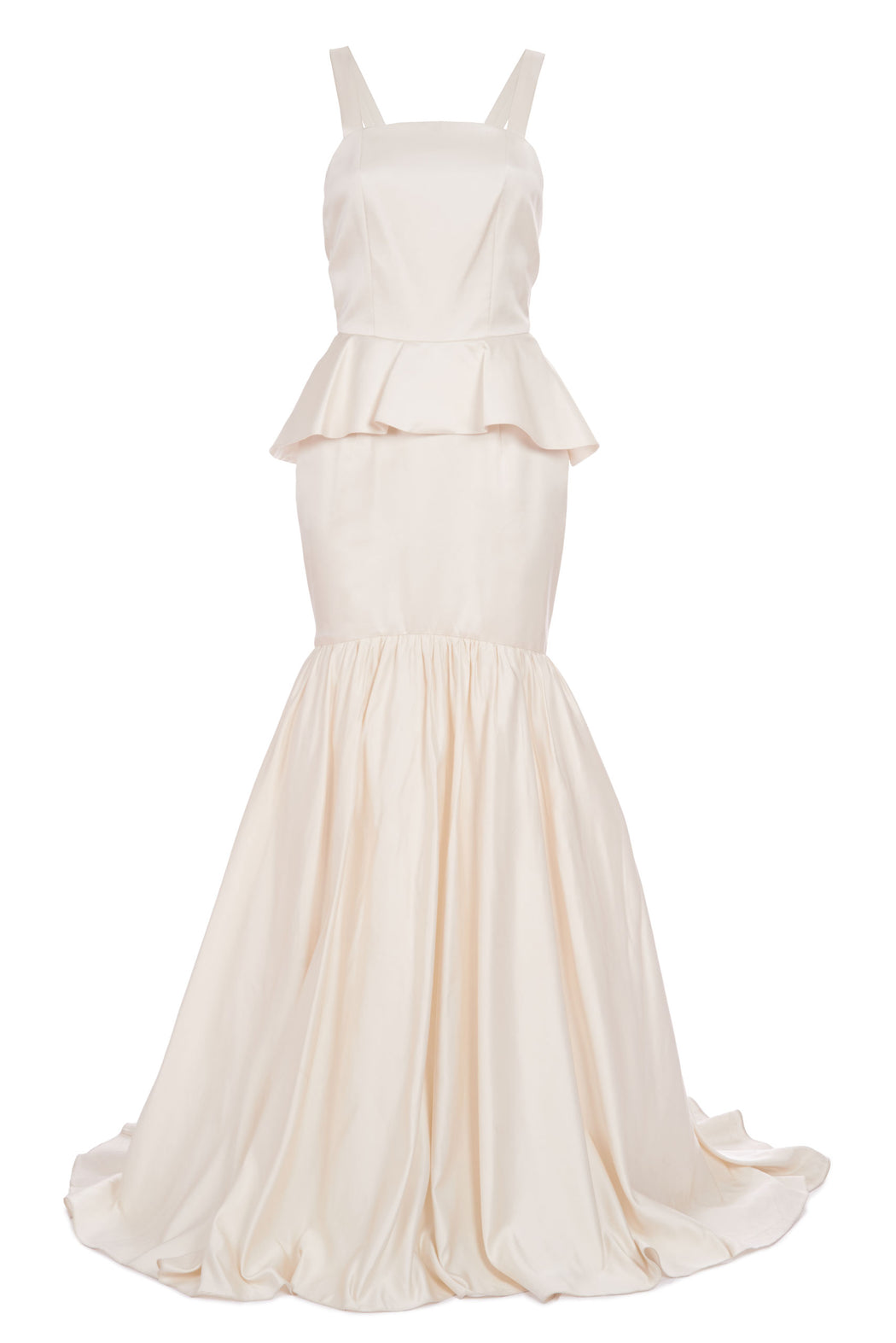 Honest As The Day Is Long Ivory Duchess Satin Tiered Gown