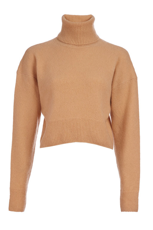 Marie Cashmere Cropped Turtleneck Sweater