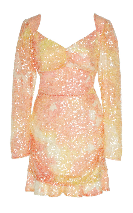 Natalie Pastel Sequin-Embellished Crepe Mini Dress