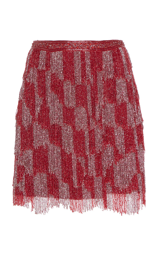 Reynolds Red and Pink Beaded Skirt