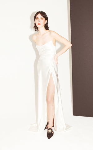 Rock Your Baby White Silk Gown