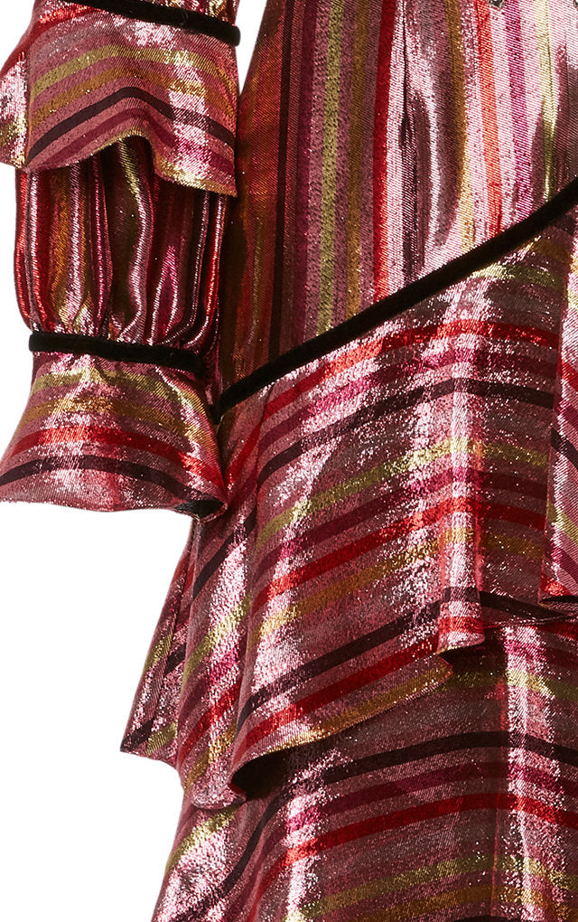 Taurus Metallic Stripe Dress