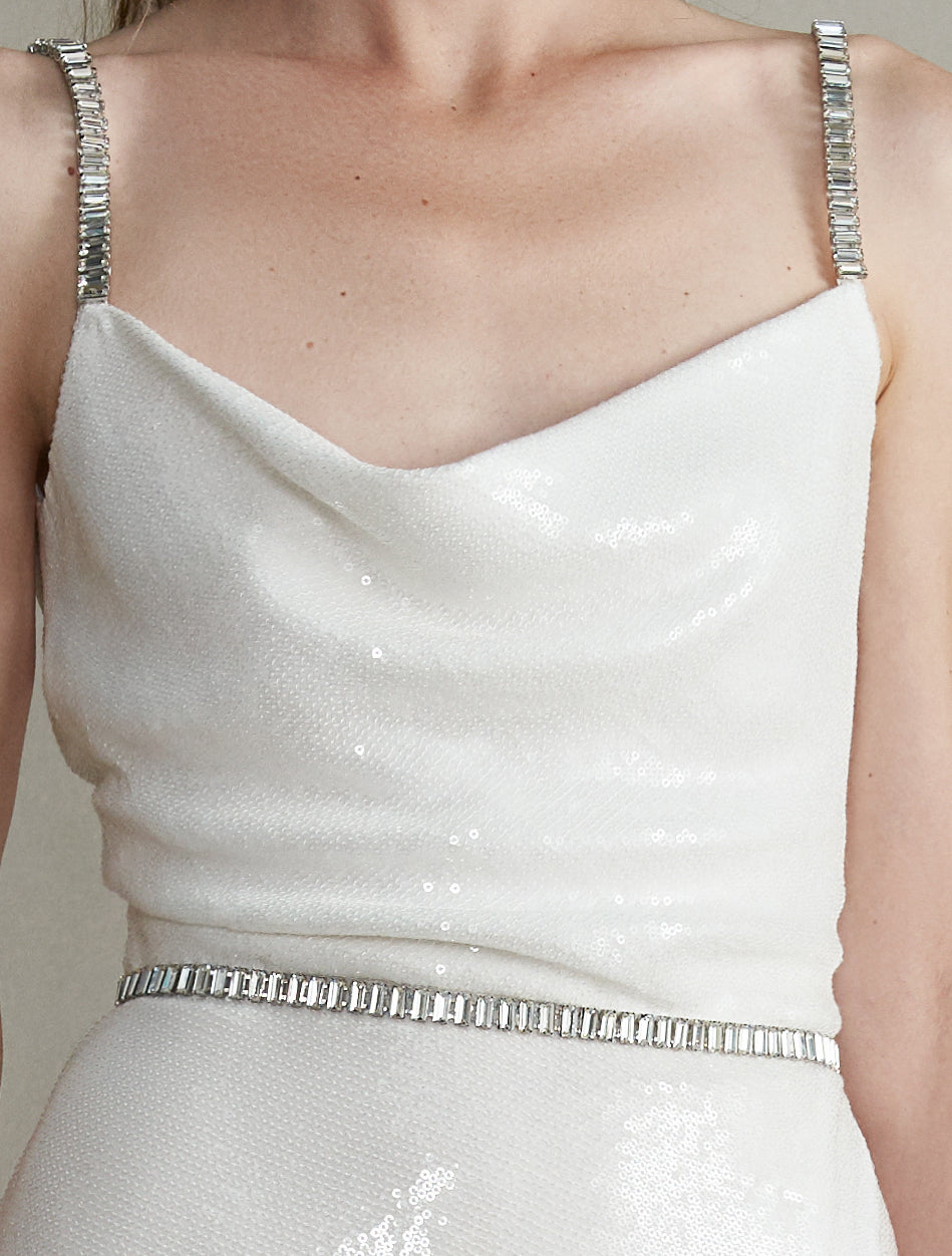 Venus White Sequin Dress