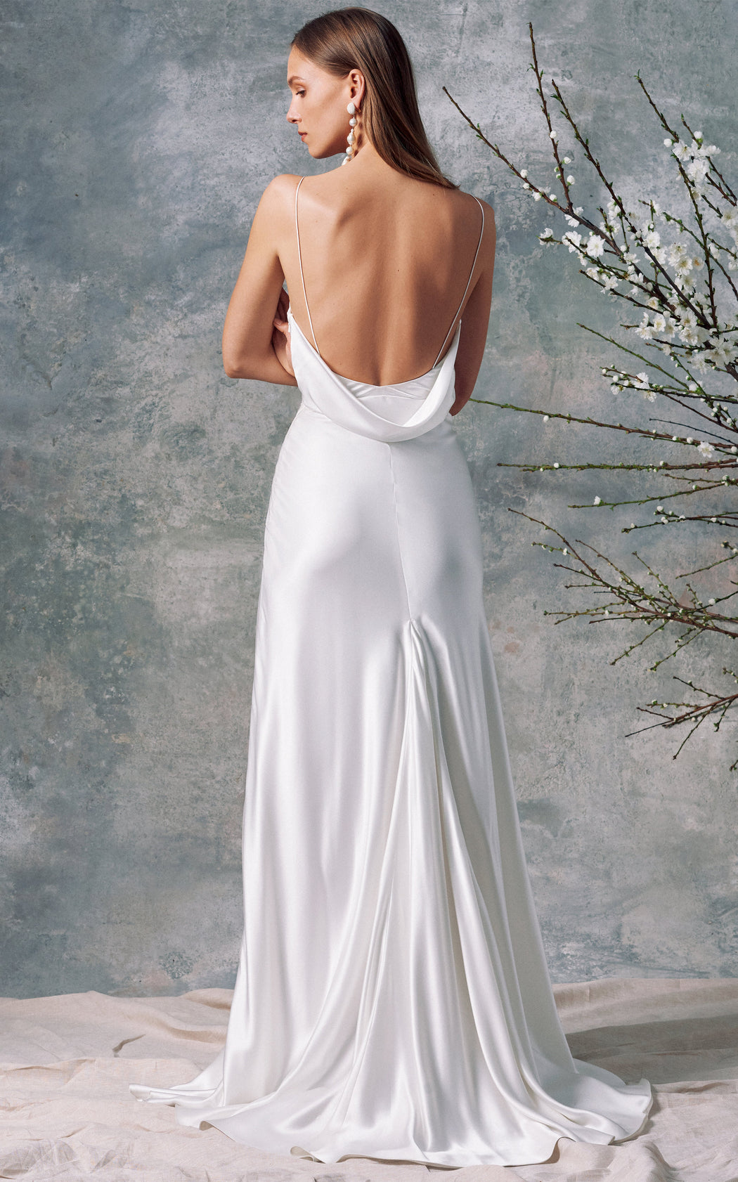 Vesta White Silk Dress