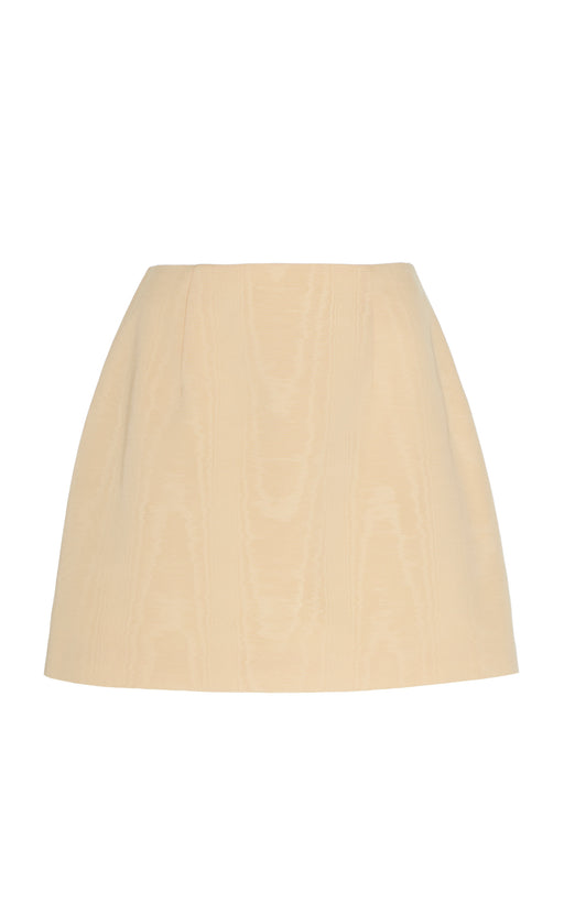 West Moire Silk Mini Skirt