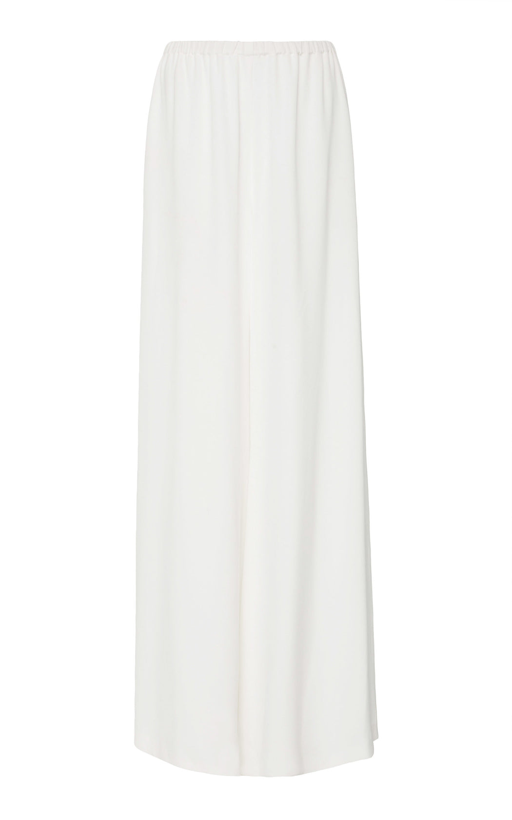 White Satin Wide Leg Pant