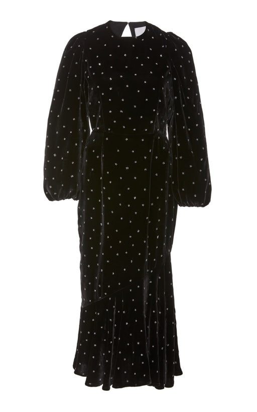 In Stock: Wishing On A Star Embellished Black Velvet Dress