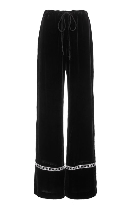 In Stock: Disqo Embellished Black Velvet Pant