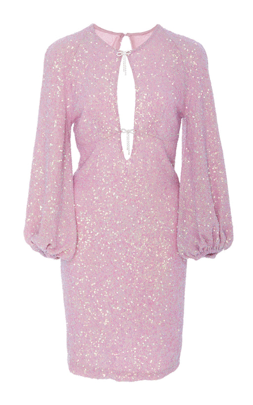 Hot Stuff Pink Sequin Mini Dress