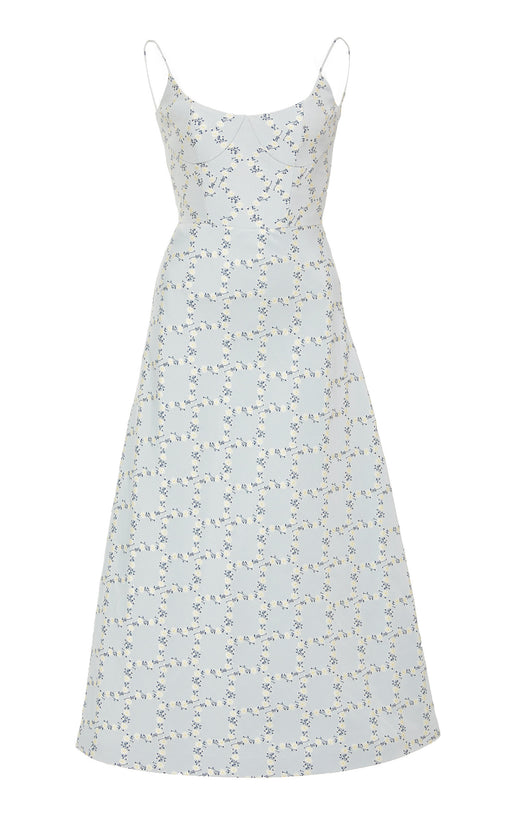 Elinor Blue Lattice Dress