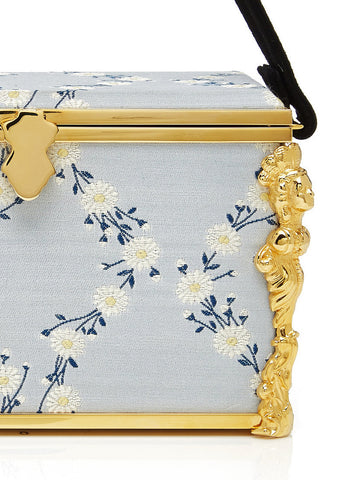 Emmeline Blue Floral Box Bag