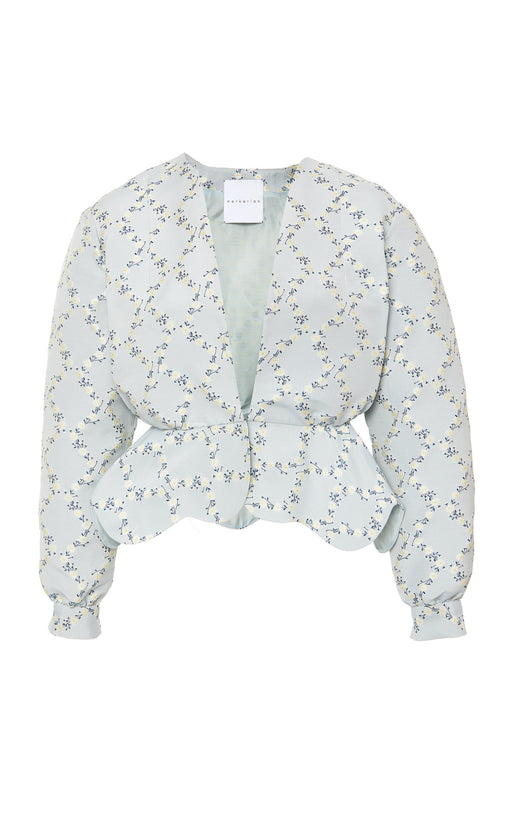 Wickham Pale Blue Floral Lattice Jacket