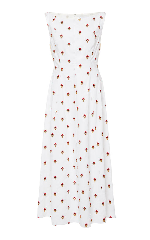 Tilney White Floral Embroidered Dress
