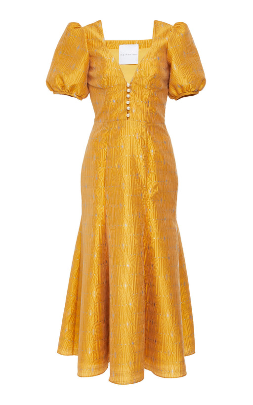 Gardiner Marigold Brocade Dress