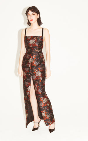 Love To Love You Floral Brocade Gown
