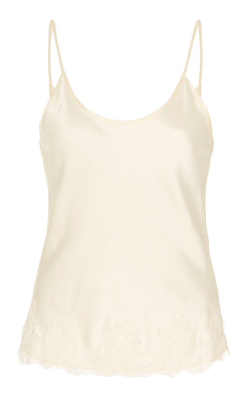 Pyramus Ivory Satin And Lace Cami