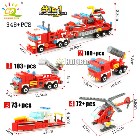 348pcs Fire Fighting Collection - The Trendy Hero