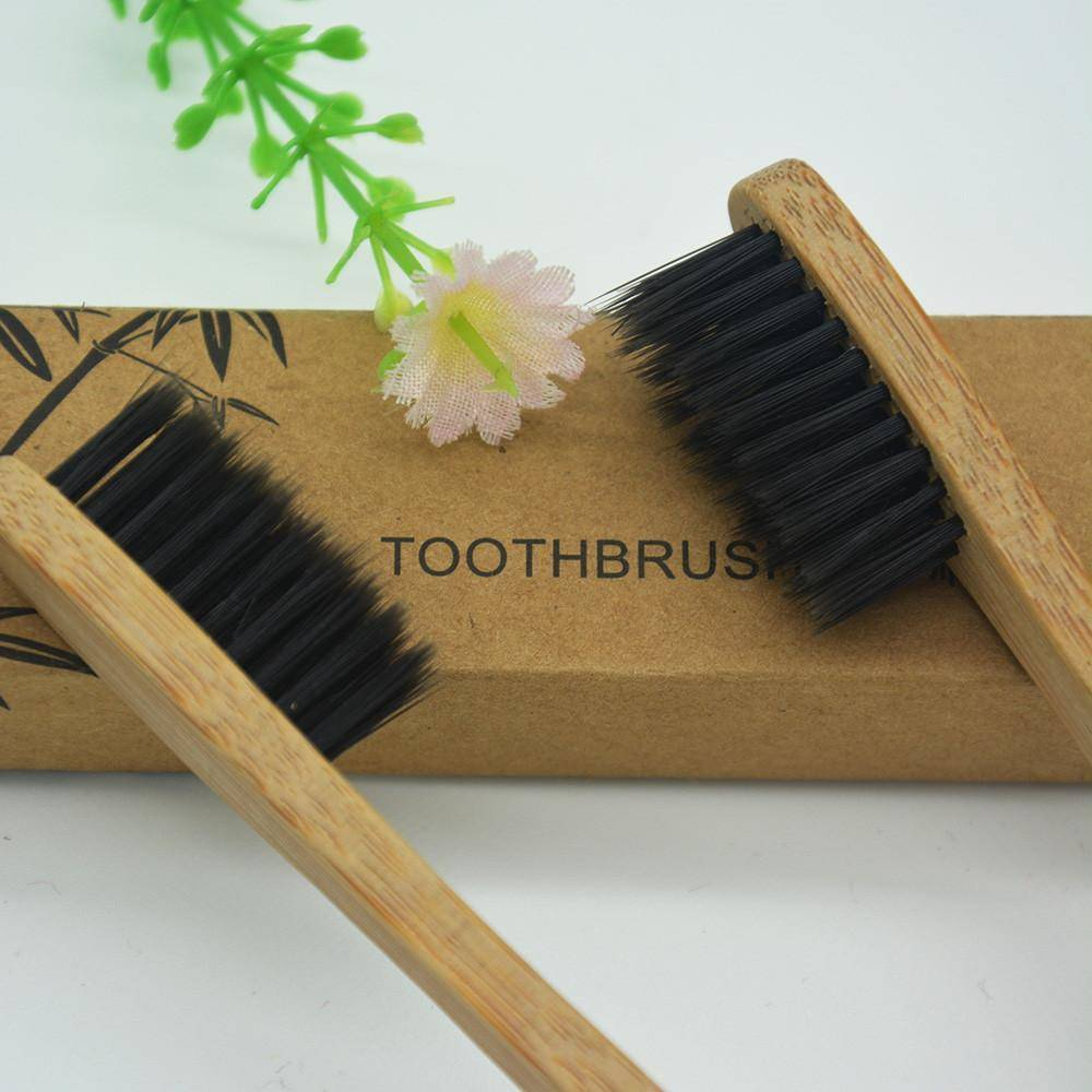 5 Pack Bamboo Handle Toothbrush - The Trendy Hero
