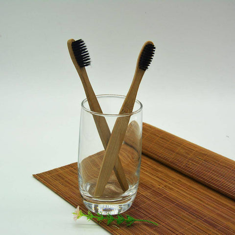 Image of 5 Pack Bamboo Handle Toothbrush - The Trendy Hero