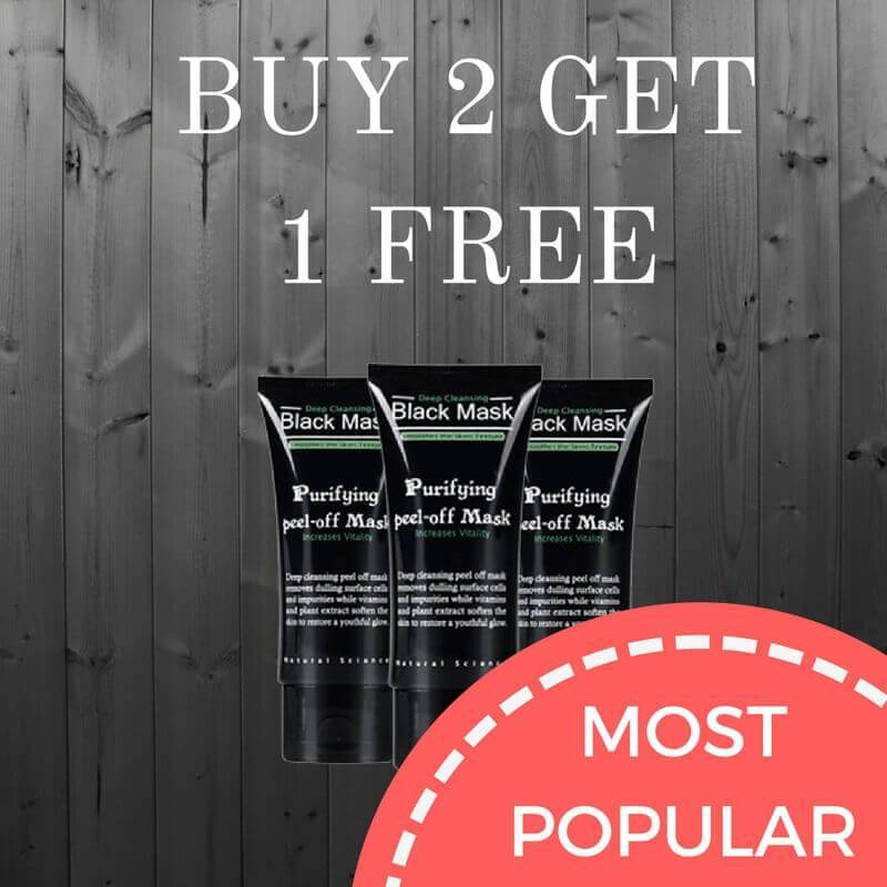BUY 2 GET 1 FREE DEEP CLEANSING BLACK MASK - The Trendy Hero
