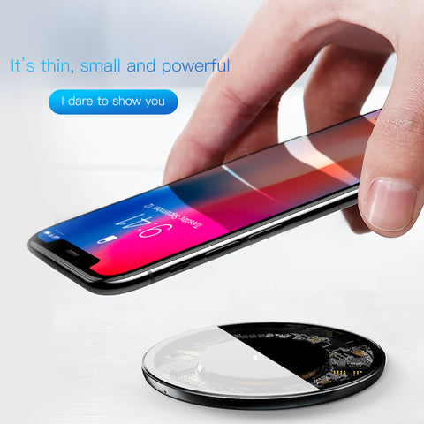 Image of Transparent Wireless Chargepad - The Trendy Hero