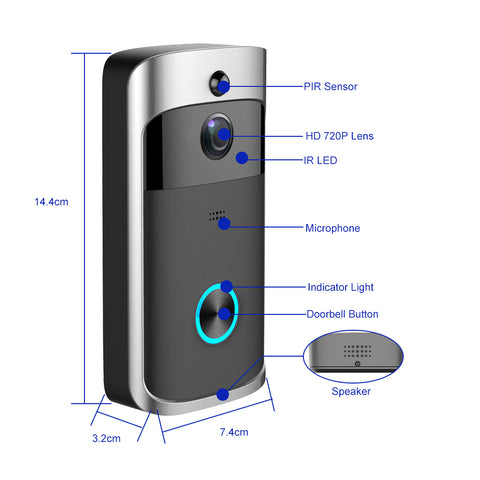 Smart Wifi Doorbell - The Trendy Hero