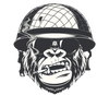 Cool Hard Hats Smoking Monkey Logo