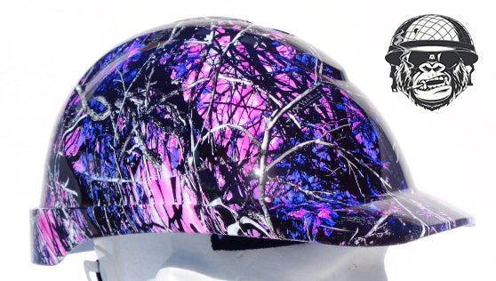 V9 Cap Hard Hat - Pink Camo; Cool Hard Hats NZ