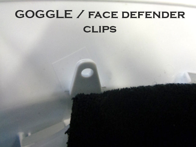 Clips for googles to be attached