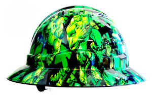 Full Brim Hard Hat - Hulk; Cool Hard Hats NZ