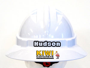 Custom Hard Hat - Full Brim Custom Hard Hats; Cool Hard Hats NZ