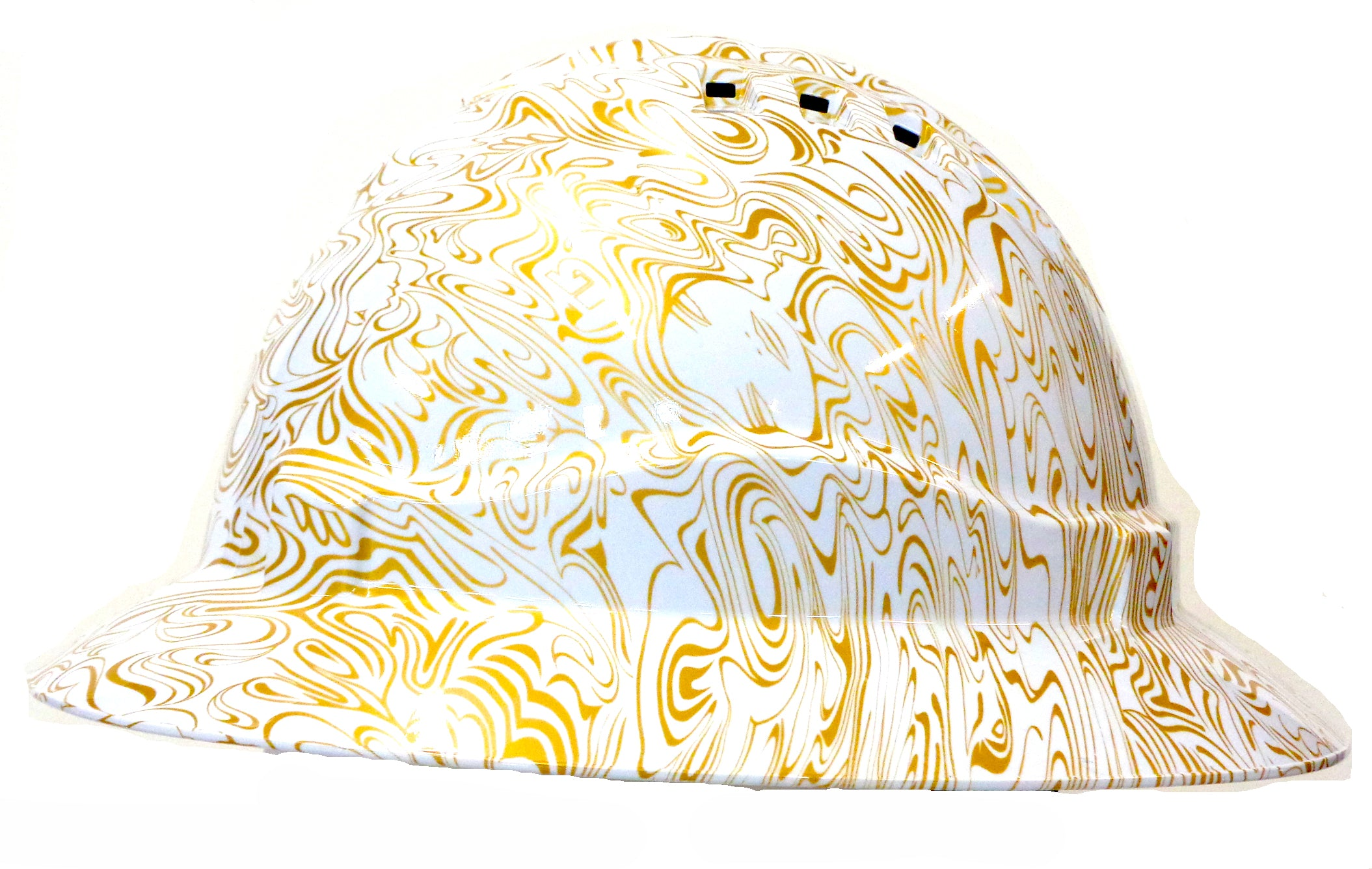Full Brim Hard Hat - Gold Swirl; Cool Hard Hats NZ