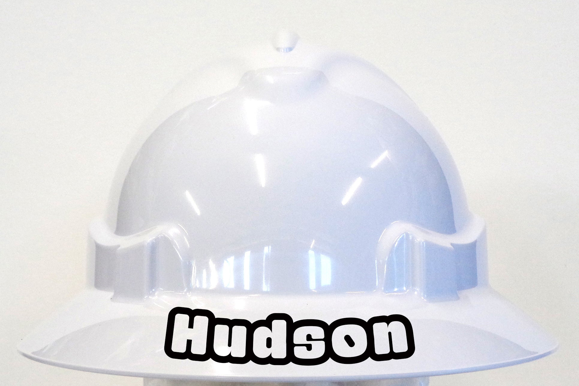 Gaban Style Text Viny lDecal on Hard Hat