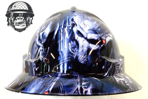 Wide brim alien vs predator hard hat front view