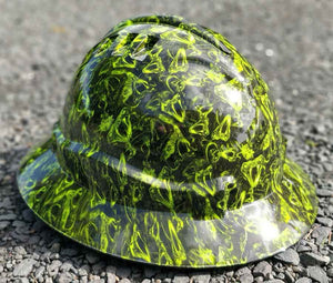Green Viper Full Brim Hard Hat