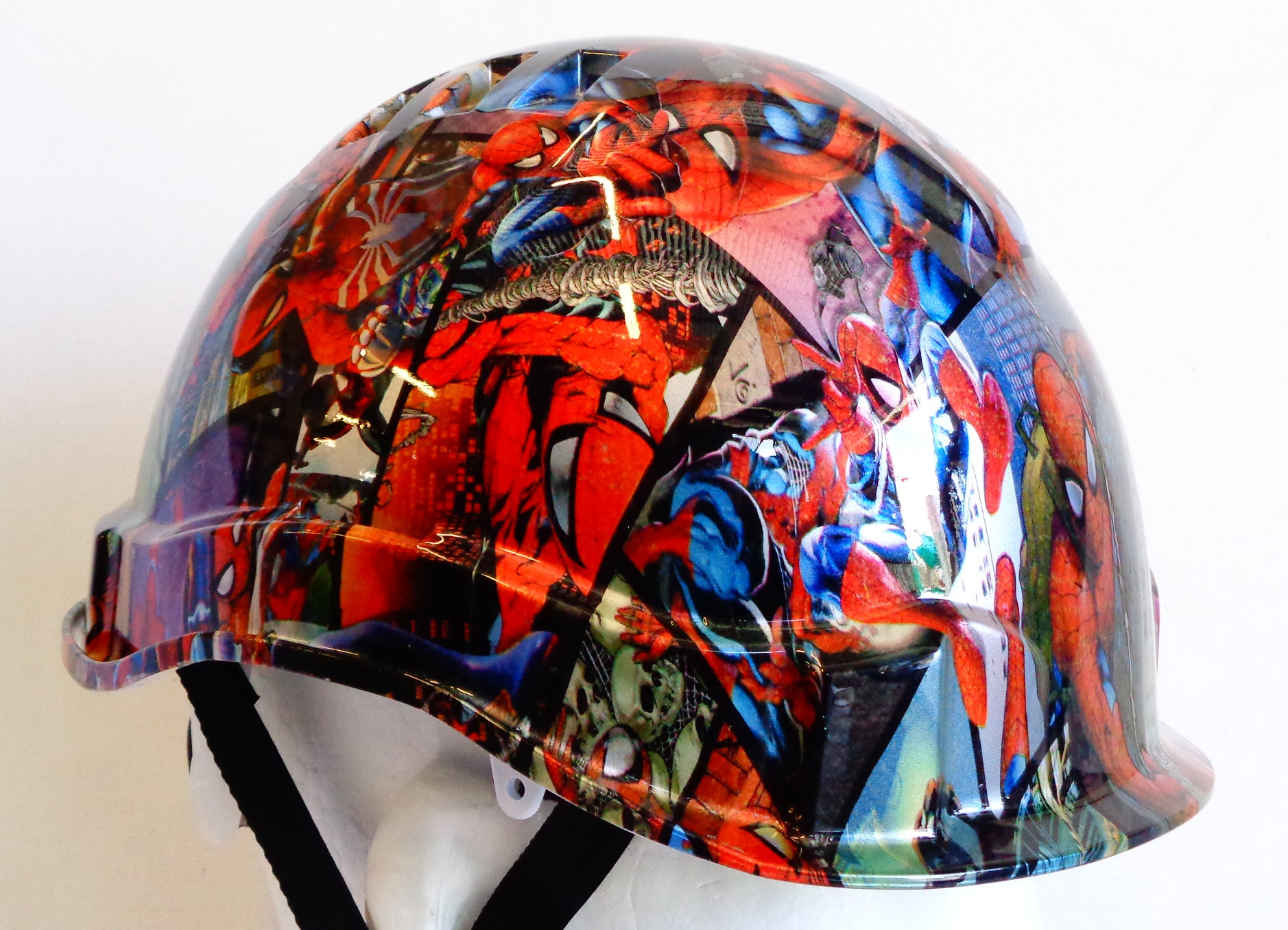 Linesman Hard Hat - Spiderman; Cool Hard Hats NZ