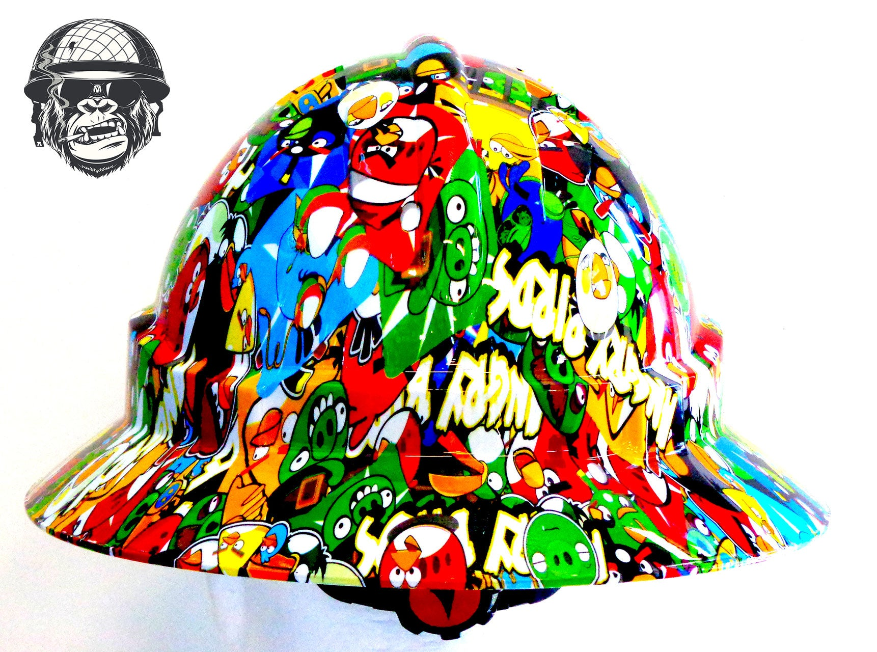 Full Brim Hard Hat - Angry Birds; Cool Hard Hats NZ