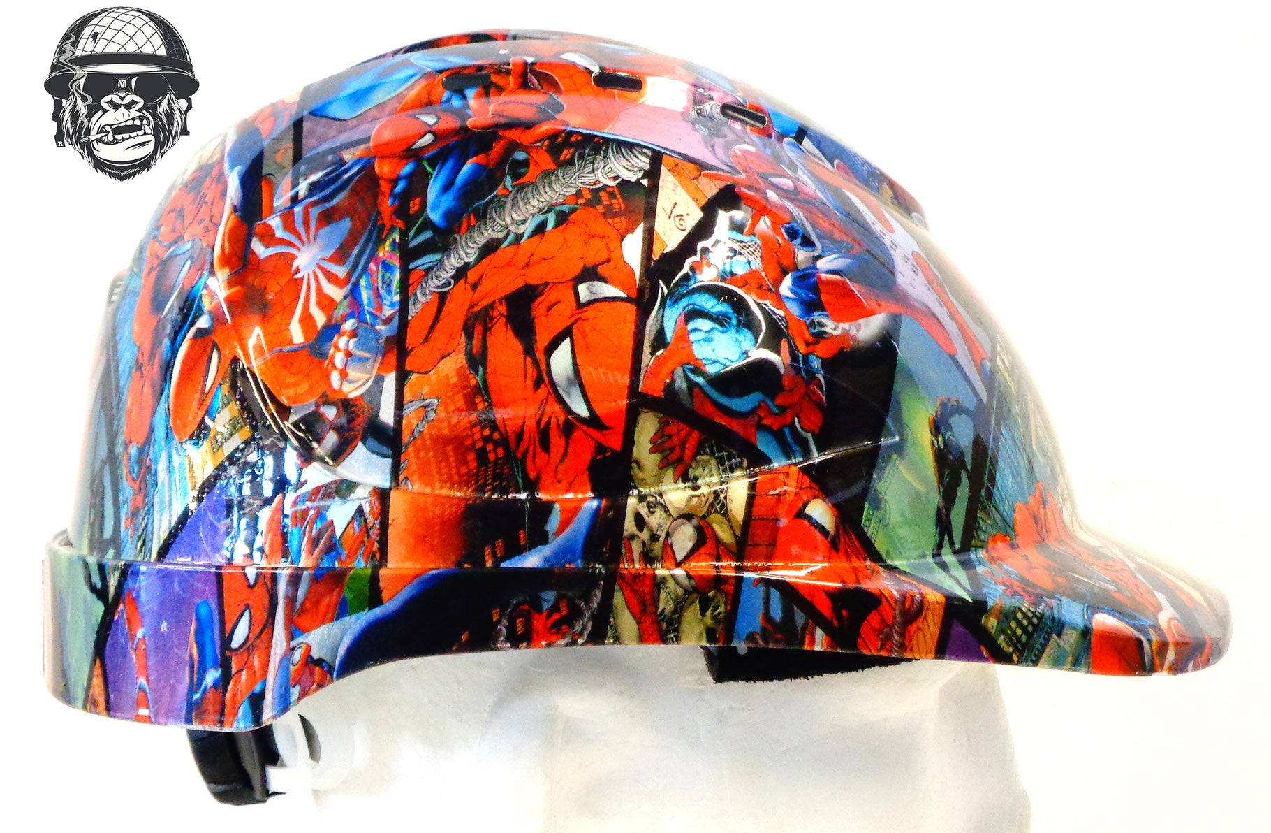 V9 Cap Hard Hat - Spiderman; Cool Hard Hats NZ