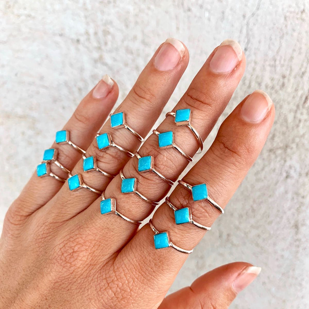 *RTS Simple Diamond Turquoise Ring