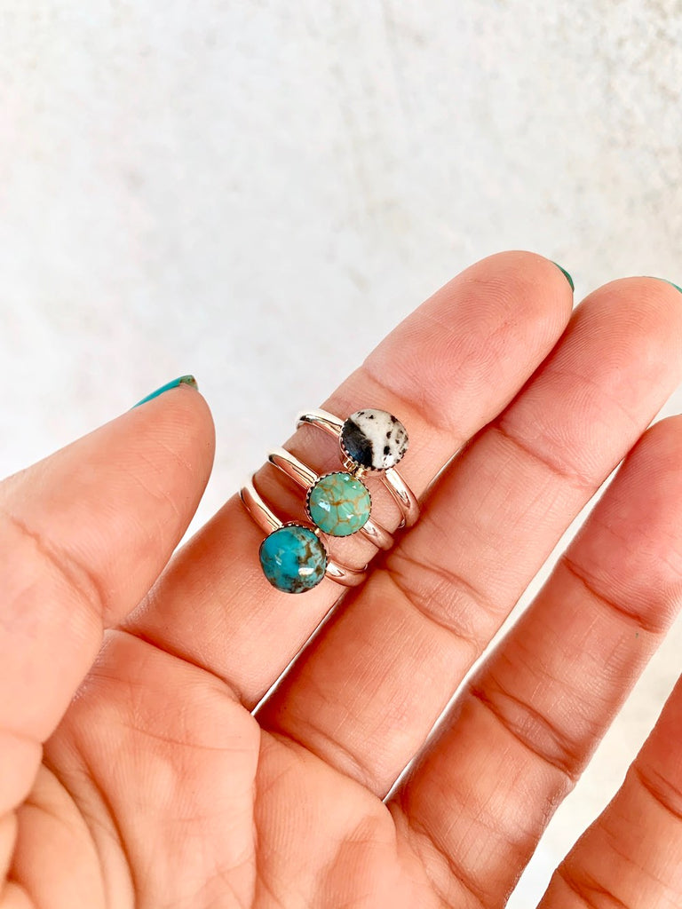 *Plain Round Turquoise Stacker Ring