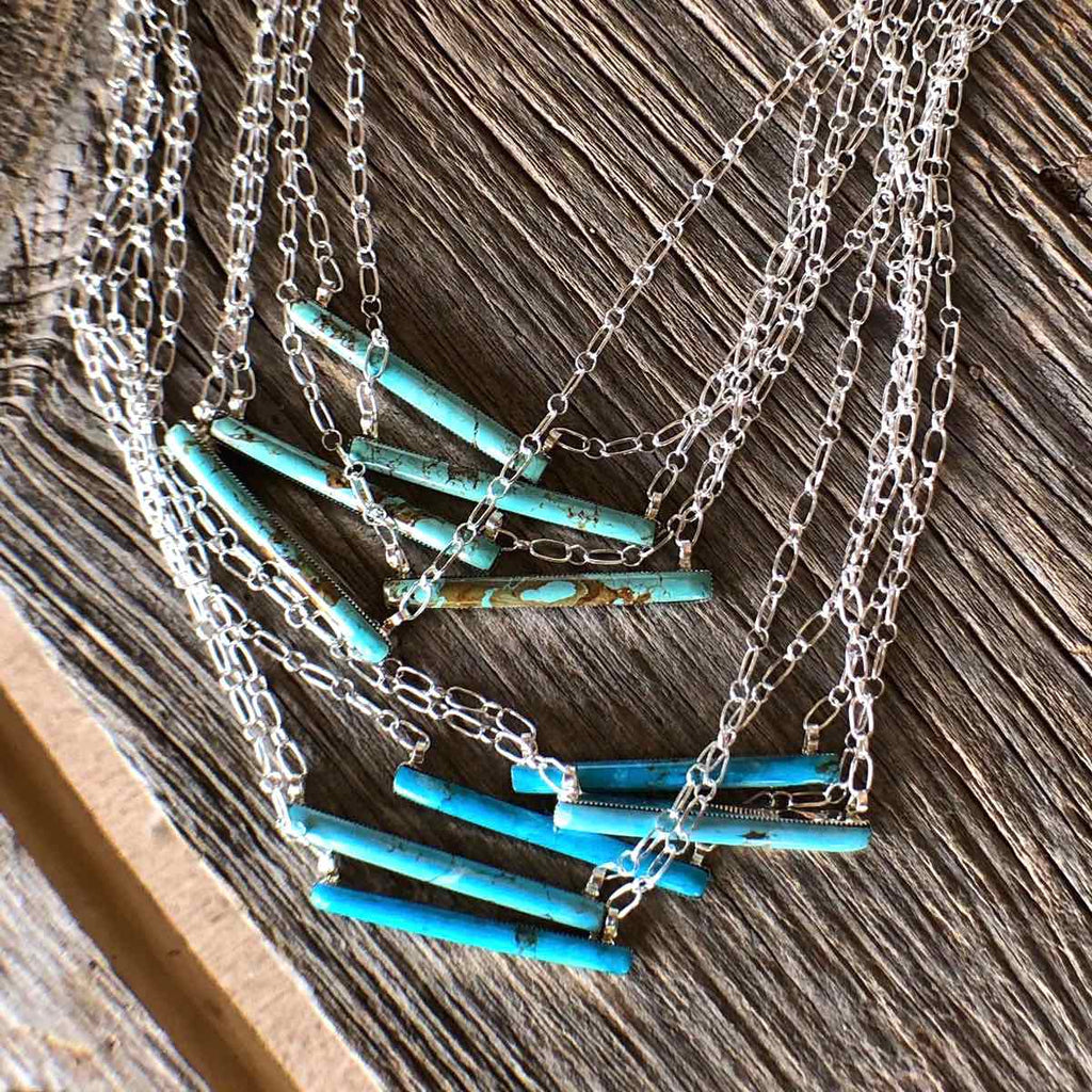 *SLIM* Bar Necklace *Turquoise