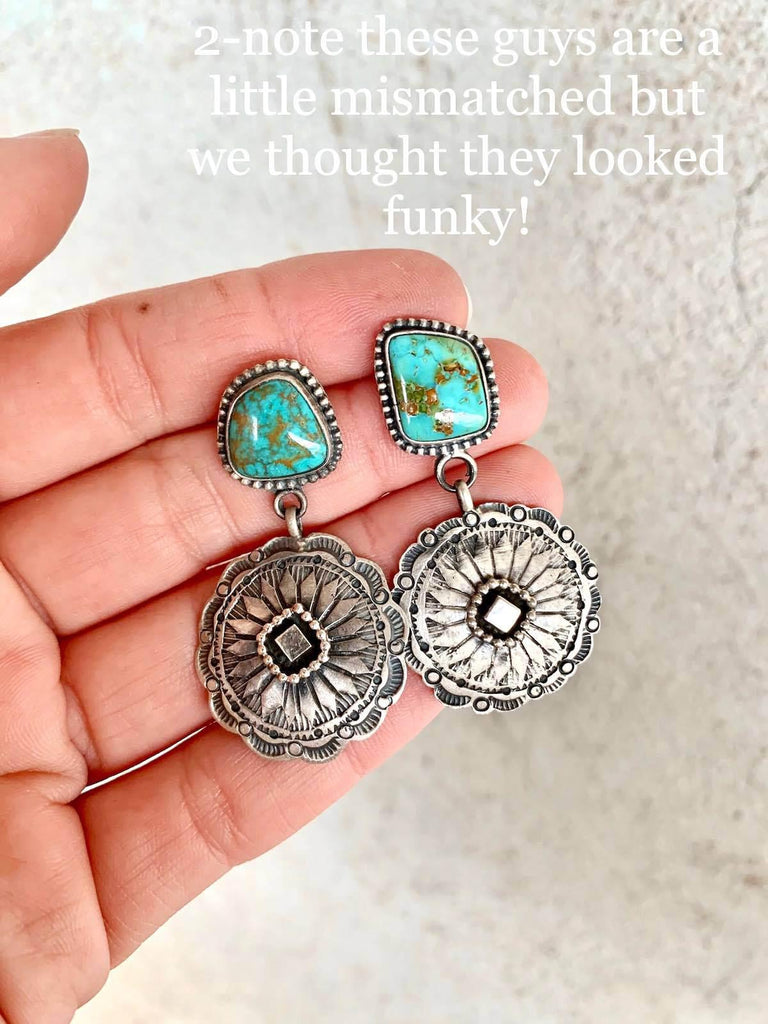 *RTS Turquoise Concho Earrings